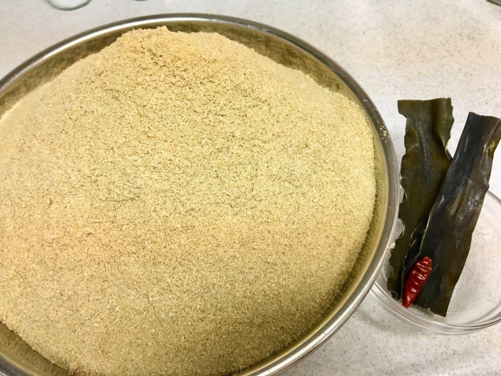 自然栽培米の米ぬか